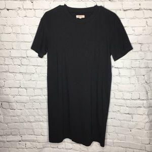 MADEWELL Black T-shirt pocket Tee dress